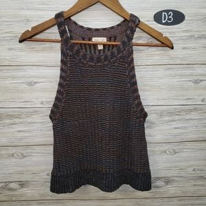 Silence + Noise Anthro Knit Multicolor Tank Top